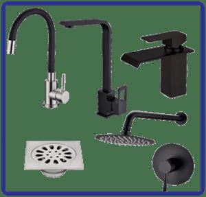 Bathroom, Kitchen Taps & more